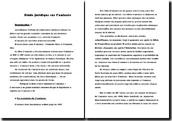 Etude juridique sur l'amiante.