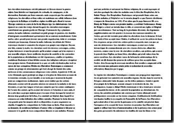 Les ordres teutoniques (fiche de révision)