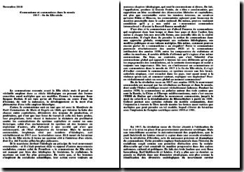 Communisme et communistes dans le monde 1917 - fin du XXe siècle