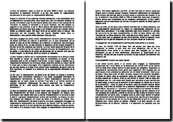 commentaire d'arrêt de la cour de cassation du 18 juillet 2000