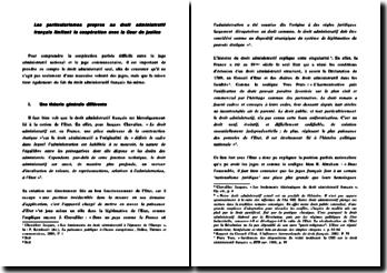 Les particularismes propres au droit administratif français limitant la coopération avec la Cour de justice