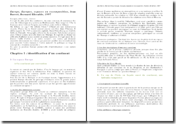 Europe, Europes, espace en recomposition Jean Barrot, Bernard Elissalde