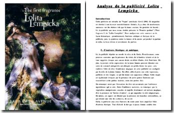 First fragrance de Lolita Lempicka : analyse de la publicité