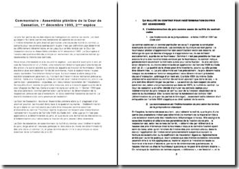 Commentaire assemblée plénière 1er dec 1995 2eme espèce