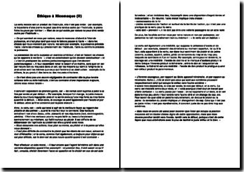 Idée générale du livre 2 de l'Ethique à Nicomaque