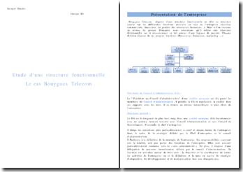 Etude d'une structure fonctionnelle: Le cas Bouygues Telecom
