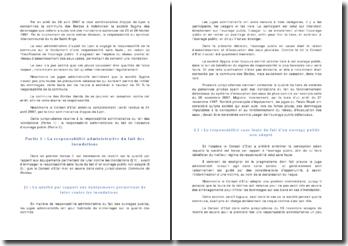 Conseil d'Etat 13 novembre 2009 Commune des Bordes - responsabilité administrative, ouvrage public