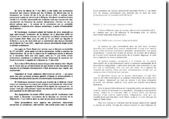 Conseil d'Etat 18 novembre 2005 M Houlbreque