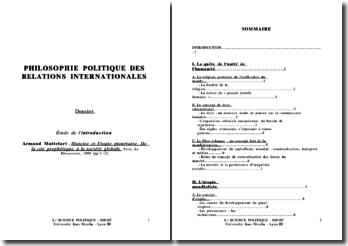 Commentaire de l'introduction : Armand Mattelart, Histoire et Utopie planétaire. De la cité prophétique à la société globale