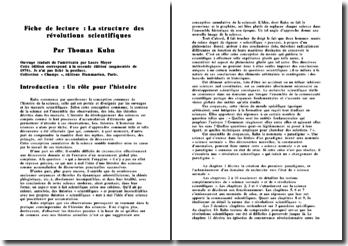 Fiche de lecture : La structure des révolutions scientifiques de Thomas Kuhn