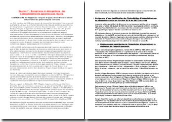 TD Droit international économique,Exceptions et dérogations : les assouplissements apportés aux règles.