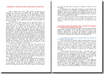 Commune de Porta, Conseil d'Etat, 8 juillet 2002