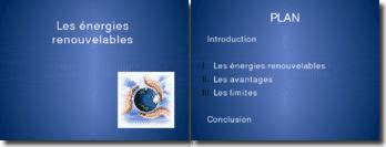Exposé sur les énergies renouvelables