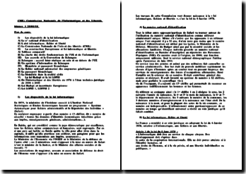 CNIL: Commission Nationale de l'Informatique et des Libertés
