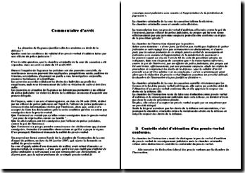 commentaire d'arrêt 03/04/2007 chambre criminelle