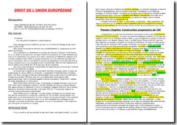 droit de l'Union Européenne licence 3
