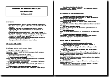 J-R. Pitte, Histoire du paysage francais