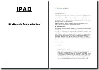 IPAD Stratégie de Communication