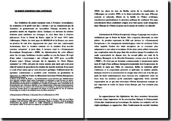 Le droit européen des contrats : Introduction