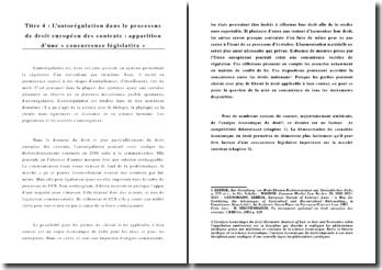 L'autorégulation dans le processus d'harmonisation du droit des contrats