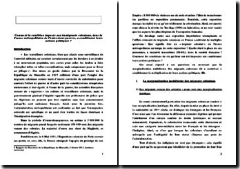 Les immigrants coloniaux en France métropolitaine pendant l'entre-deux-guerres et leurs actions politiques