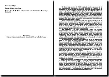 Dissertation CET TP Droit Fiscal