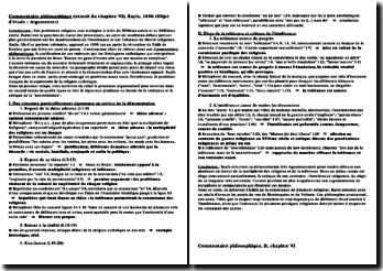 ommentaire composé/Fiche de révision - chapitre VI du Commentaire philosophique de Bayle, 1686