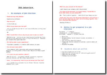 Préparer son entretien d'embauche (job interview) en anglais