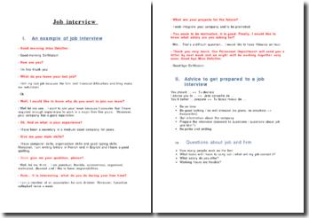 Préparer son entretien d'embauche en anglais