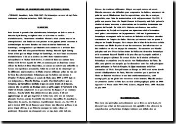 FICHE DE LECTURE dU RECIT DE ARUNDHATI VIRMANI : India 1900-1947: Un britannique au coeur du raj, Paris, Autrement , collection mémoires, 2002, 184 pages