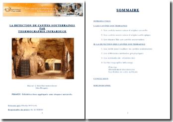 Détection de cavités souterraines par termographie infrarouge