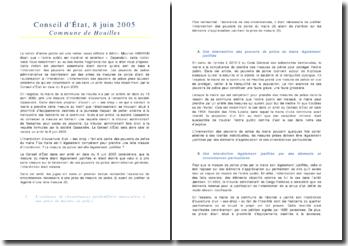 Conseil d'État, 8 juin 2005 - Commune de Houilles