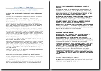 Td Science Politique - Le phénomène politique (WEBER-BOURDIN)