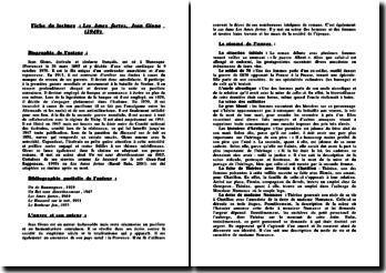 Fiche de Lecture - Les Ames Fortes, Jean Giono (1949)