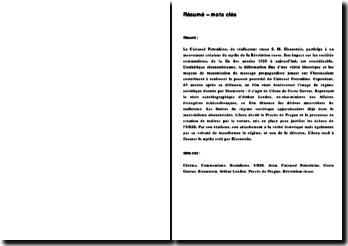 Cinéma et Communisme : d'Eisenstein à Costa Gavras, entre mythe et désillusion