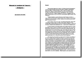 Antigone (J. Anouilh) : résumé et analyse
