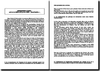 arrêt de la CJCE du 22 janvier 2002 « Canal Satélite »
