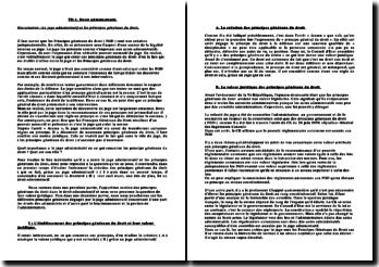 Dissertation : Le juge administratif et les principes généraux du droit.