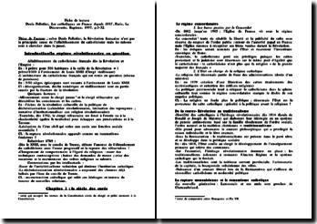 Les catholiques en France depuis 1815