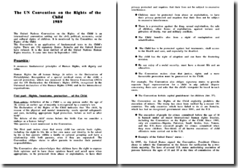 The UN Convention on the Rights of the Child 1989