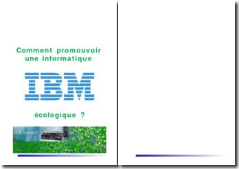 Comment promouvoir une informatique IBM écologique