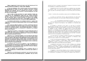 La liaison du contentieux - comparaison entre la procèdure civile et la procèdure administrative