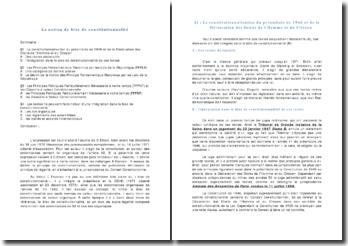 dissertation la notion de bloc de constitutionnalité