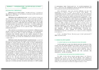 Introduction au droit public - essor et mutations du droit administratif