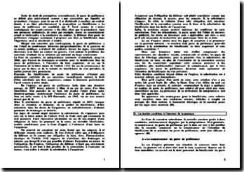 Commentaire d'arrêt Chambre Mixte 25 mai 2006 - Pacte de préférence