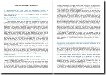 Commentaire d'arrêt, 30 octobre 2009: Mme Perreux