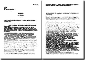 Première chambre civile, 17 novembre 1999