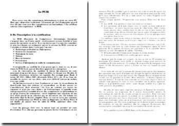 Le PCIE : Passeport de Compétences Informatique Européen