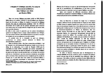 Fiche de lecture : l'Afrique sans dette; Chapitre 8: L'Afrique muselée, Un camp de redressement néolibéral - Damien Millet