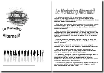 Le marketing alternatif